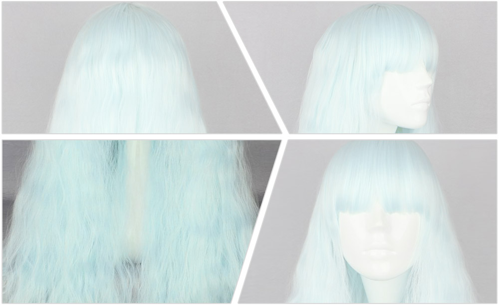 Europe Harajuku Long Loose Shaggy Perm Fluffy Perruques bouclés avec Bangs Cosplay Costume Party