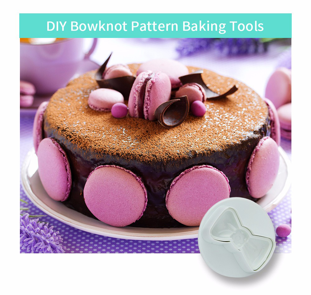 3pcs DIY Cake Bowknot Pattern Baking Tool Decorating Molds