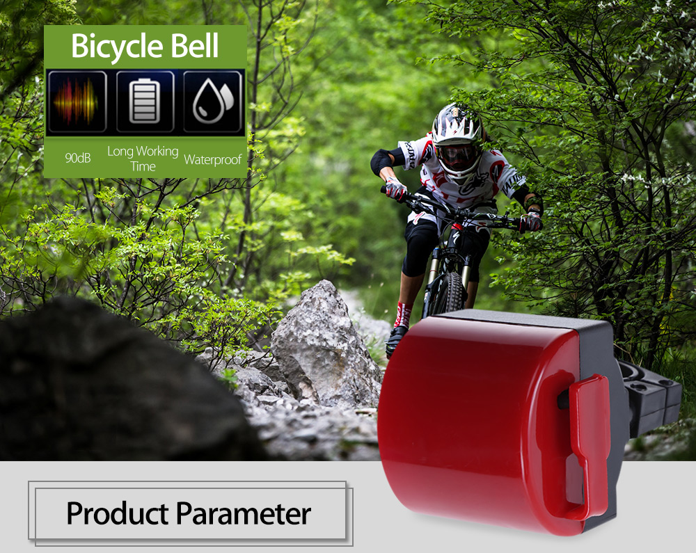 Colorful Waterproof Bicycle Bike Cycling 90dB Electric Handle Bell
