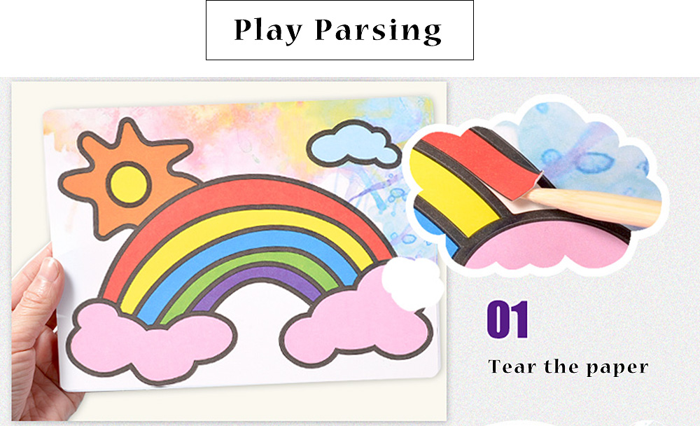 Sand Painting Handmade DIY Toy pour enfants