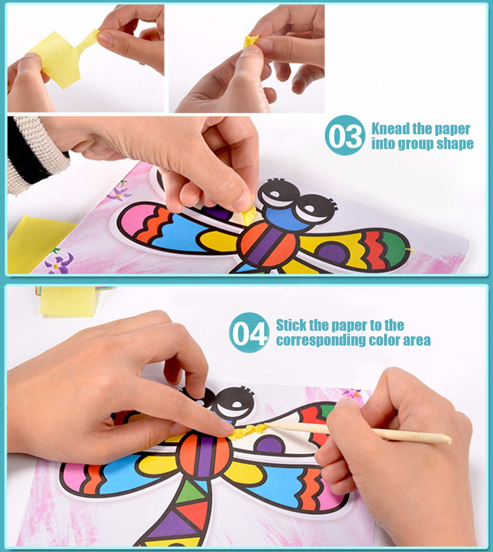 Sticky Painting Educational DIY Toy pour enfants