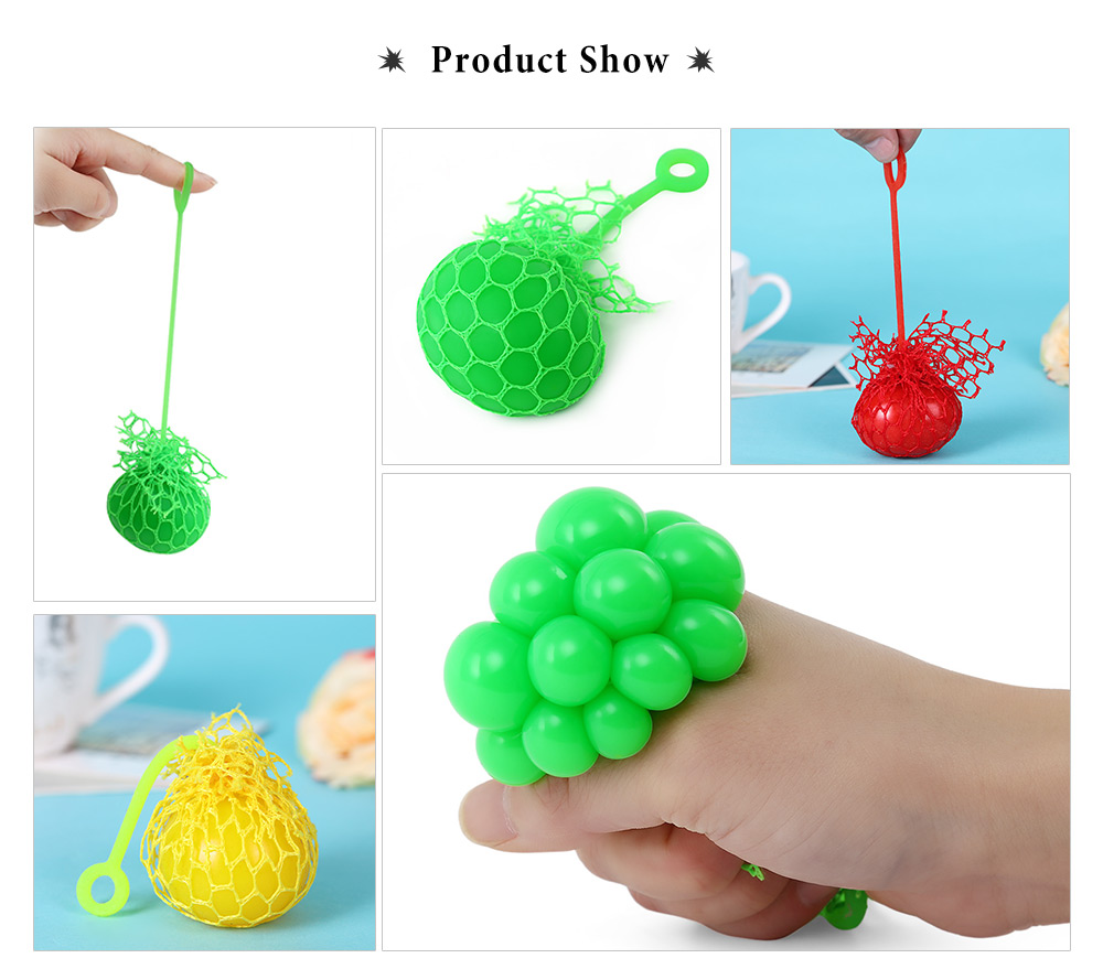 Grape Vent Ball Stress Relief Squeezing Toy