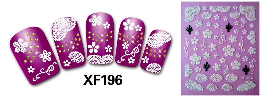 Décorations d'art à la mode Stickers filles 3D Stickers ongles