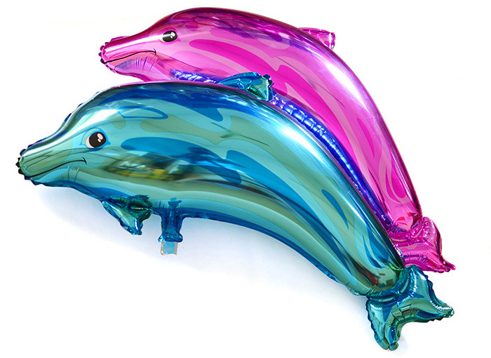Dolphin Foil Balloon Auto-Seal Reuse Party / Wedding Decor Inflatable Gift for Children