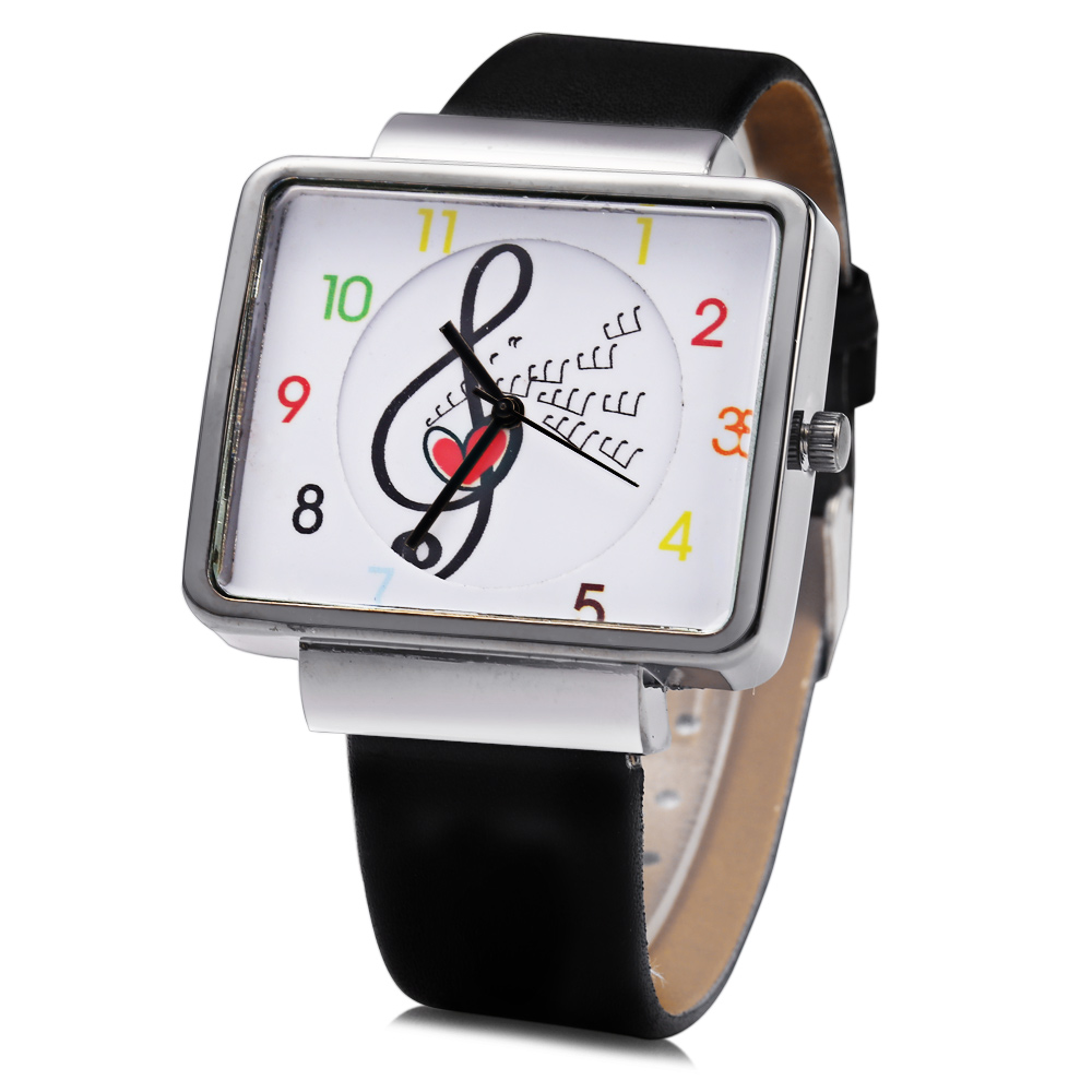 JUBAOLI 1094 Femmes Quart Watch Note Décoration Arabic Numéro Scale Leather Band