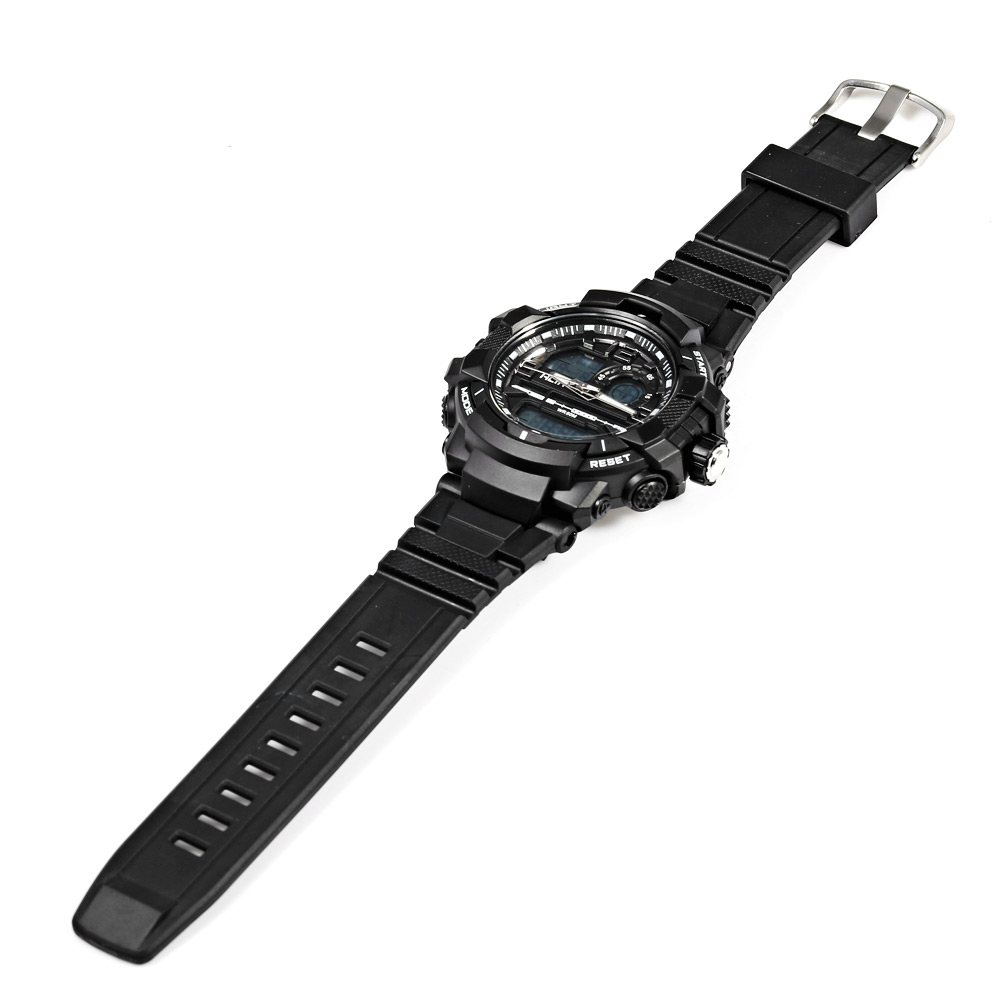 Alike AK15118 LED Montre de Sports Imperméable Affichage de la Date du Jour Double Movement