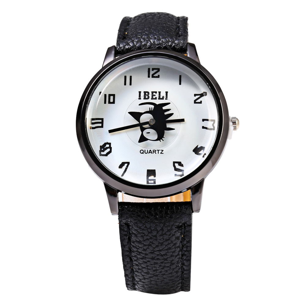 IBELI 802 Quartz Watch Black Cat Second Dial Arab Numerals for Women
