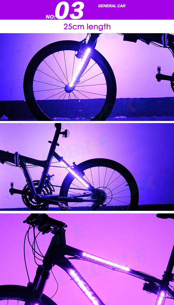 Luces Radio Bicicleta 8 Niveles LEADBIKE A106 12RGB LED