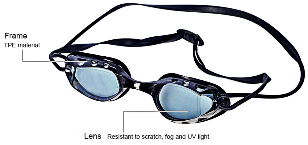 WINMAX WMB07019 Professional Swimming Glasses TPE Frame