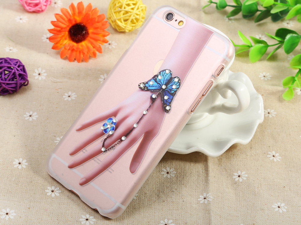 Housse de protection en diamant pour iPhone 6 Plus / 6S Plus Ultra-fine PC Hard Mobile Shell