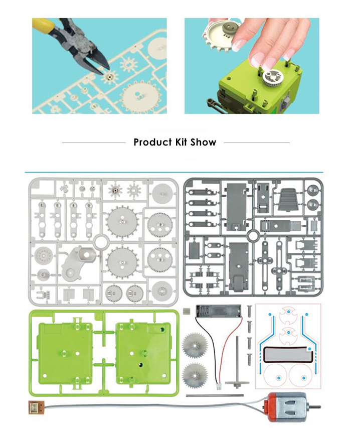 4 in 1 DIY Puzzle Electric Insect Robot Science Education Assembly Toy for Children