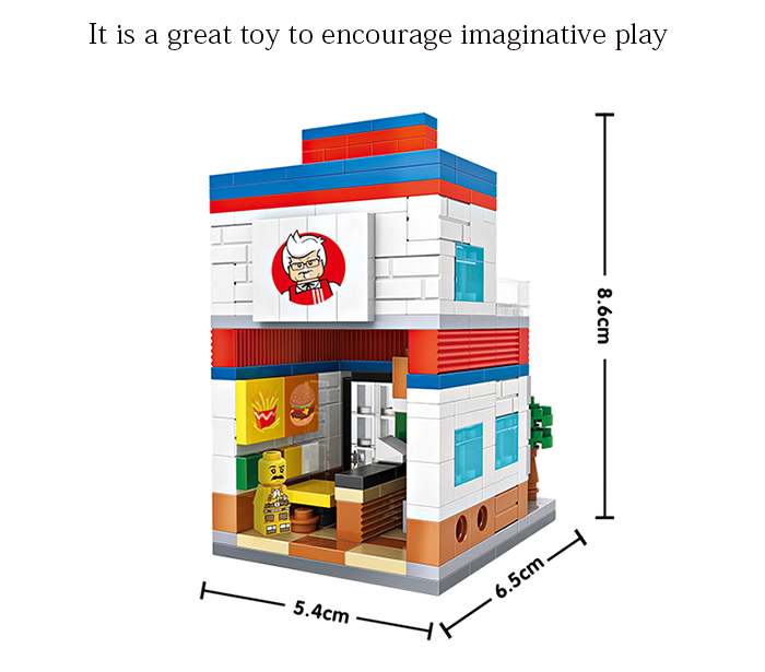 LOZ ABS Street View Architecture Bâtiment Block Educational Movie Product Kid Toy - 303pcs