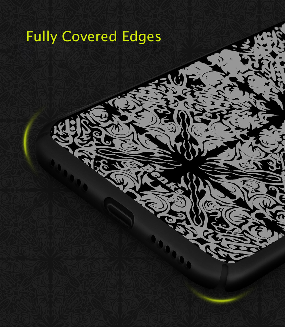 Benks Laser Etching Etui de protection ultra-mince pour iPhone 7 Anti-Sweat Smudge Resistance Protector