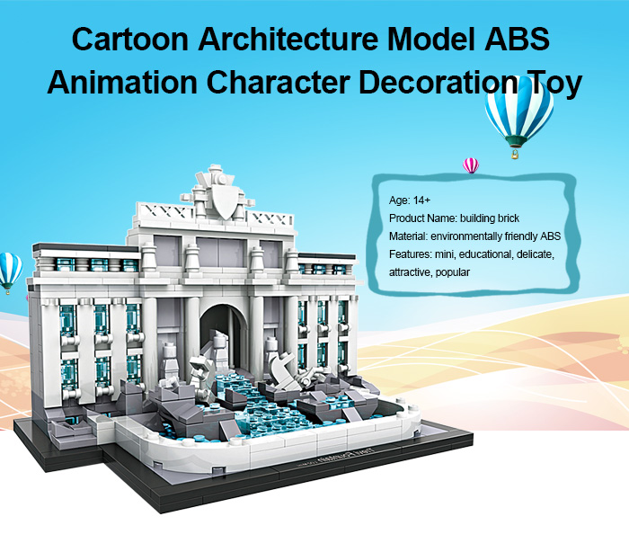 LOZ ABS Architecture Bloc de Construction de Film Educatif produit Jouet d'enfant - 677pcs