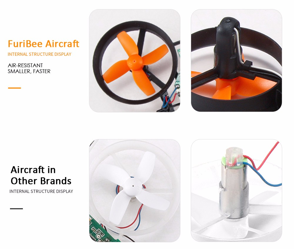 FuriBee F36 Mini 2.4GHz 4CH 6 Axis Gyro RC Quadcopter with Headless Mode / Speed Switch