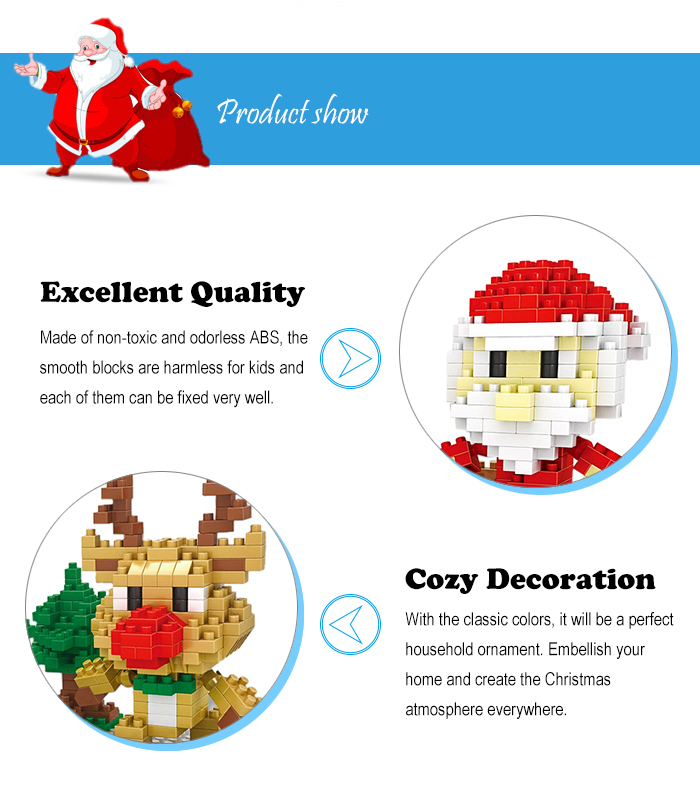 Christmas Series Snowman Building Block Model Intelligence Development Jouet pour enfants