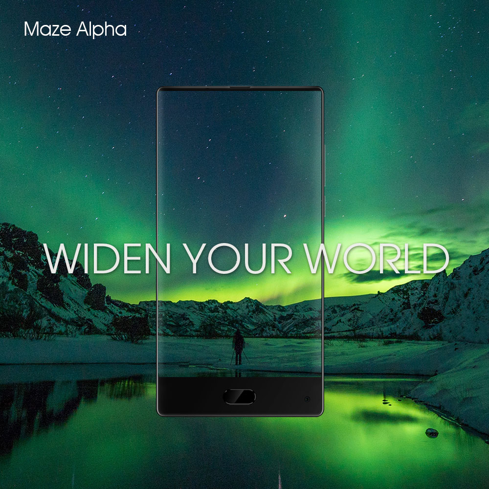 MAZE Alpha 4G Phablet Android 7.0 6.0 inch Bezel-less Screen Helio P25 Octa Core 2.5GHz 4GB RAM 64GB ROM 13.0MP Rear Camera 4000mAh Battery Type-C