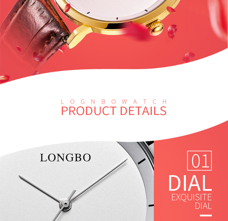 Longbo 80260 4584 Montre Contractuelle Couple Couple