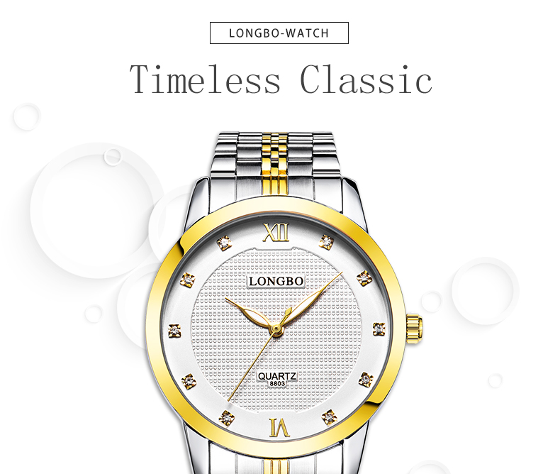 Montre Longbo 8803 4596 Luminous Needle Couple