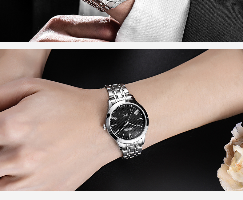 Longbo 80265 4597 Fashion Business Quartz Couple Watch