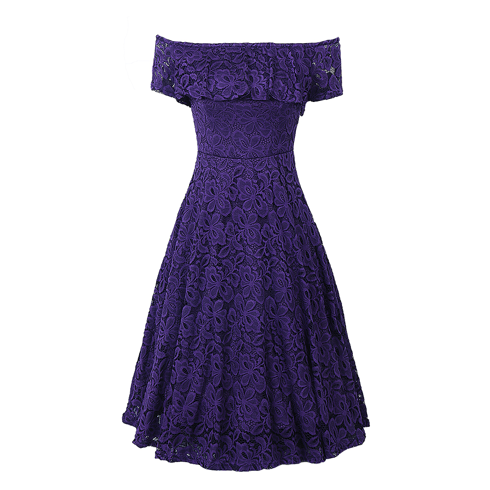 0525ae0c63 Sexy Off Shoulder Floral Lace Party Swing Dresses Women Dress Cascading  Ruffle Lace Casual Formal A