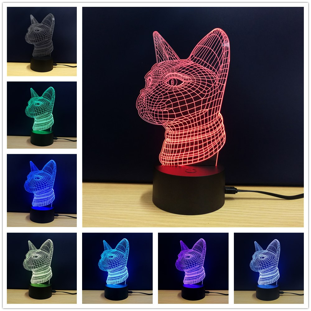 M.Sparkling TD102 Creative Animal 3D LED Lampe