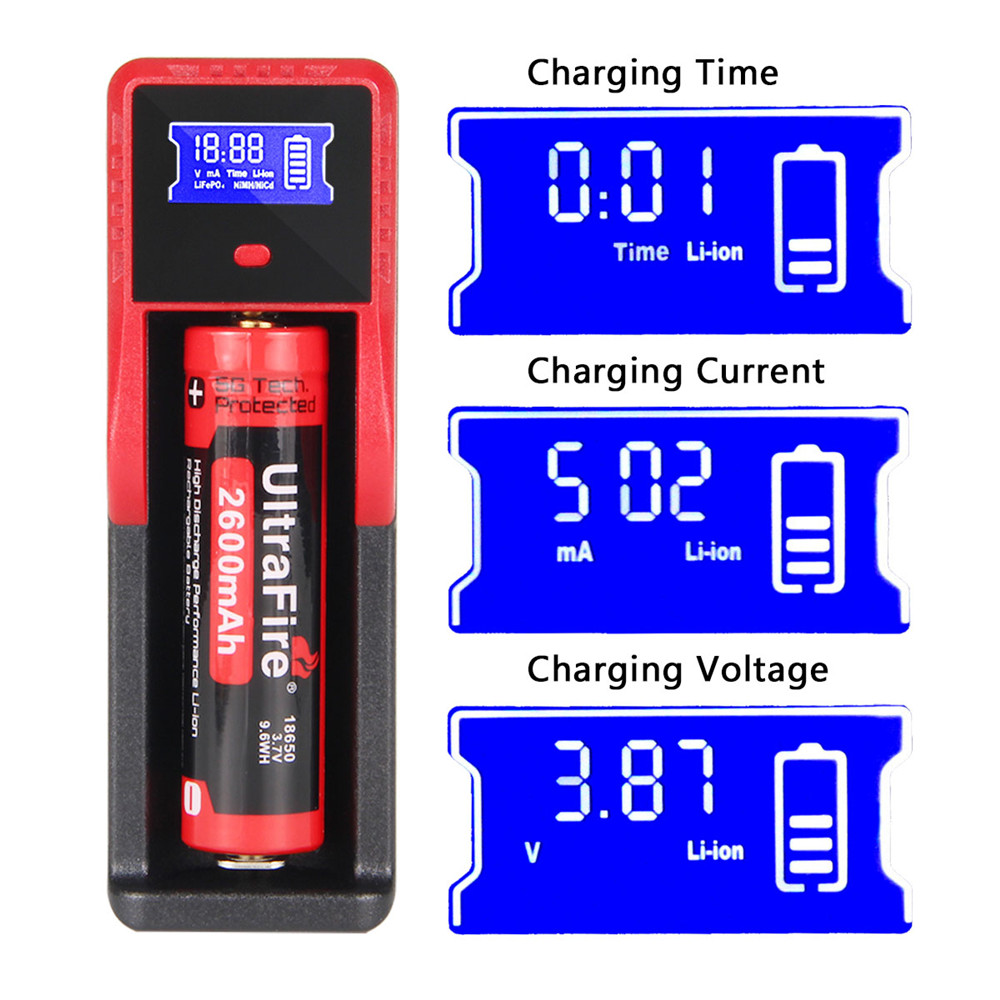 UltraFire USB Multifunctional Battery Chargers 1 Slot