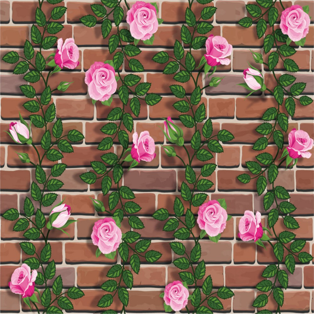DSU Imperméable Rose Brique Sticker Mural SA-1011