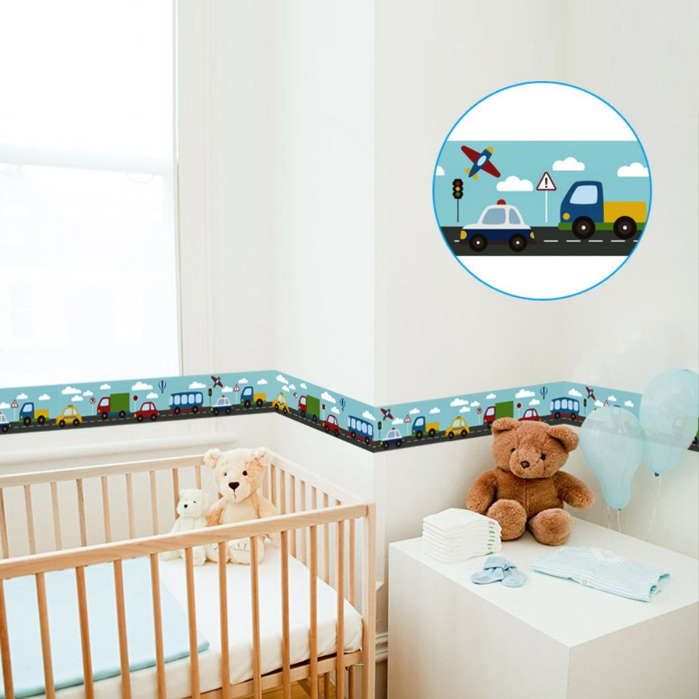 DSU YX013 enfants Cars nuages ​​Cartoon Pattern Wall Sticker