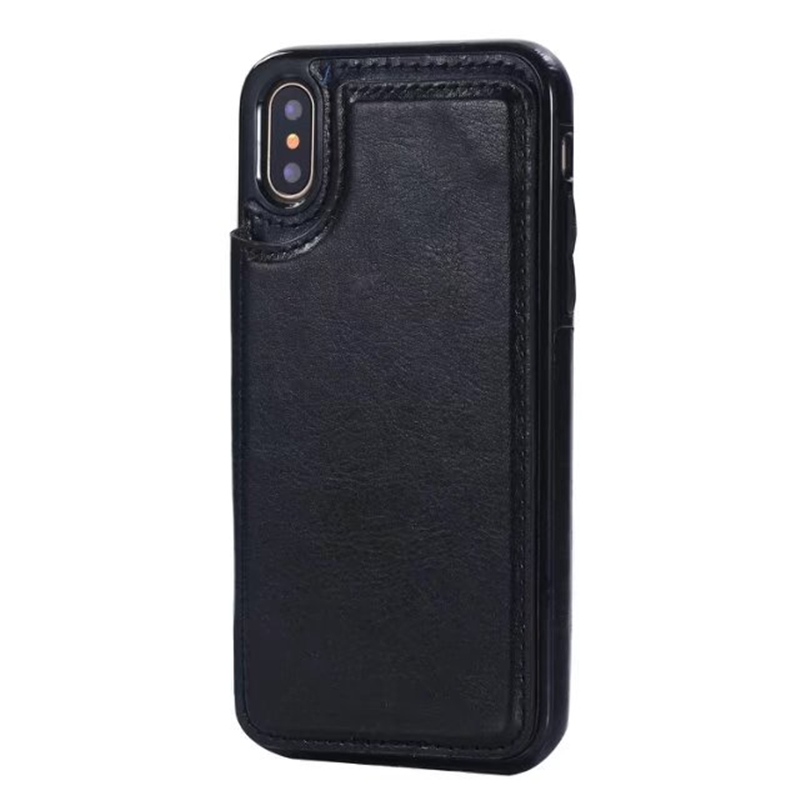 Premium PU Portefeuille en cuir Fit Hard Back Case Minimaliste antichoc Optimal Shell de protection pour iPhone X