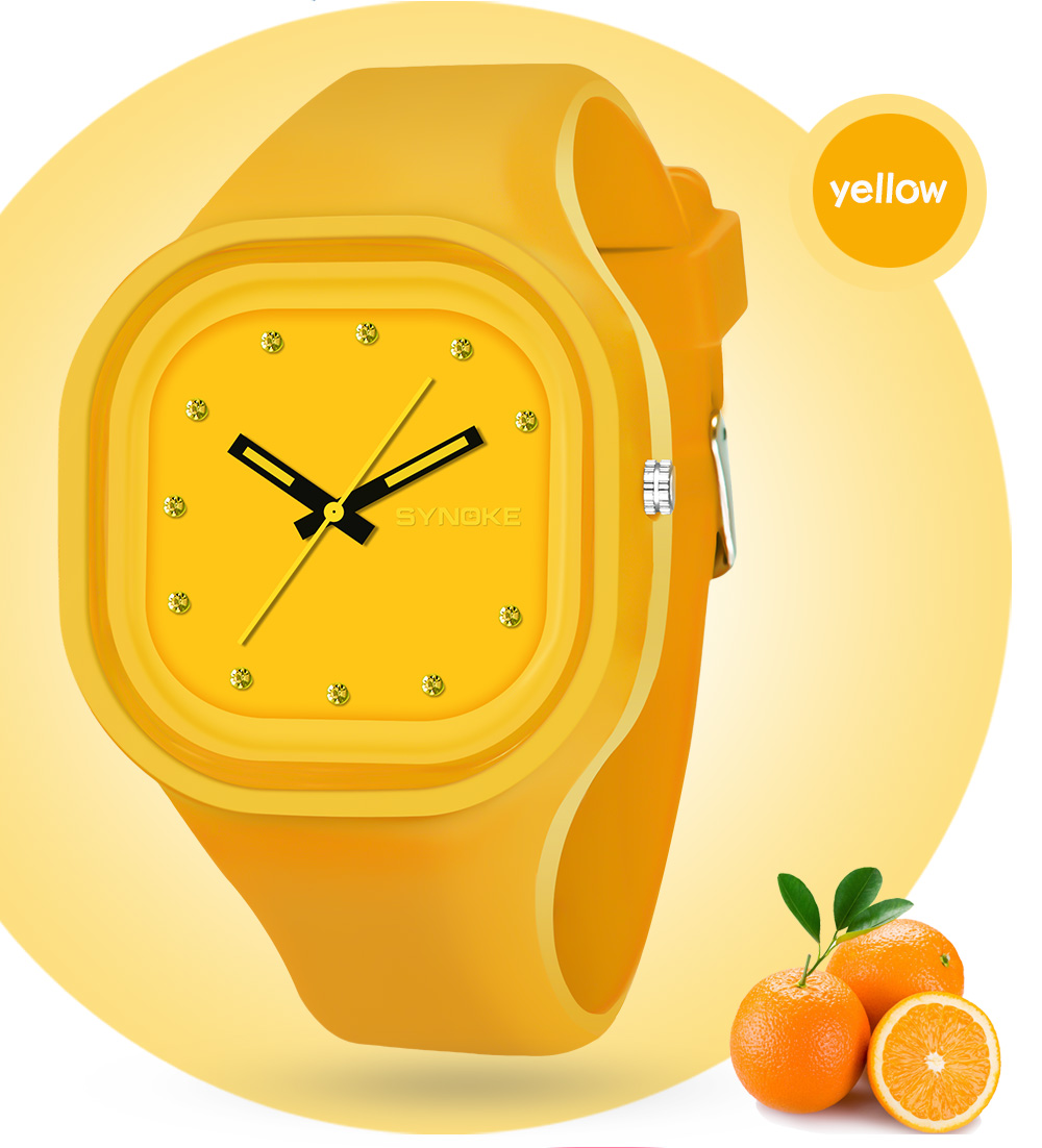 SYNOKE 66895 Sports Tendance Étanche Jelly Couple Montre