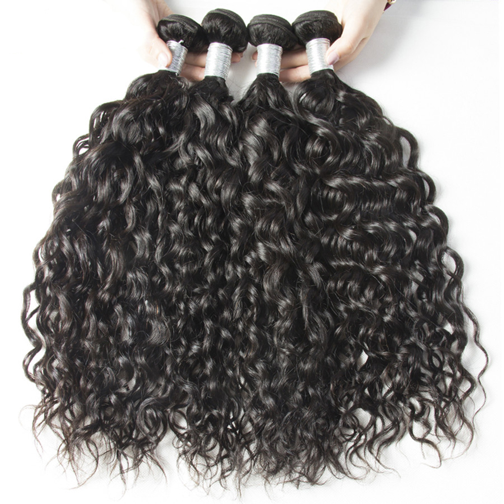 Couleur naturelle de l'extension de cheveux de Vierge de vague de l'eau malaisienne 1 bundle 12inch - 26inch