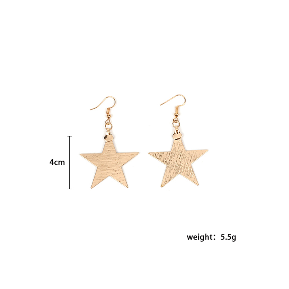 2017 New Ladies Star Love Metal Boucles d'oreilles Simple Wild Jewelry