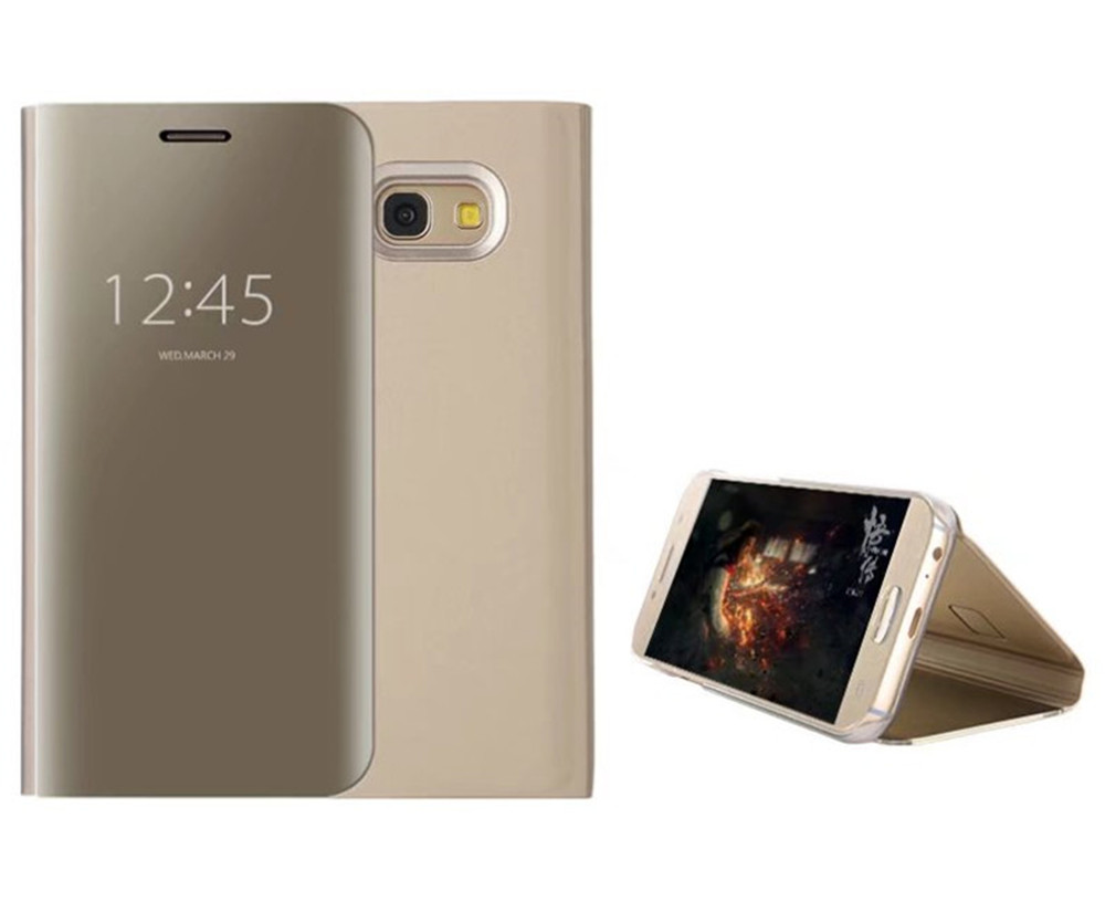 6a3aa86fe5 With Stand Plating Mirror Flip Auto Sleep Wake Up Full Body Solid Color  Hard PC Case
