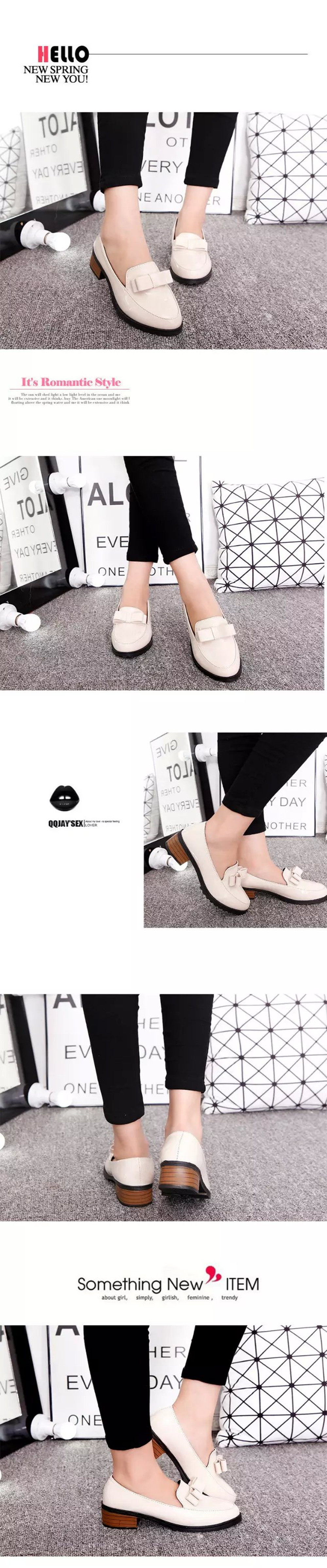 Bow-tie Shallow-mouth Chaussures pour femmes