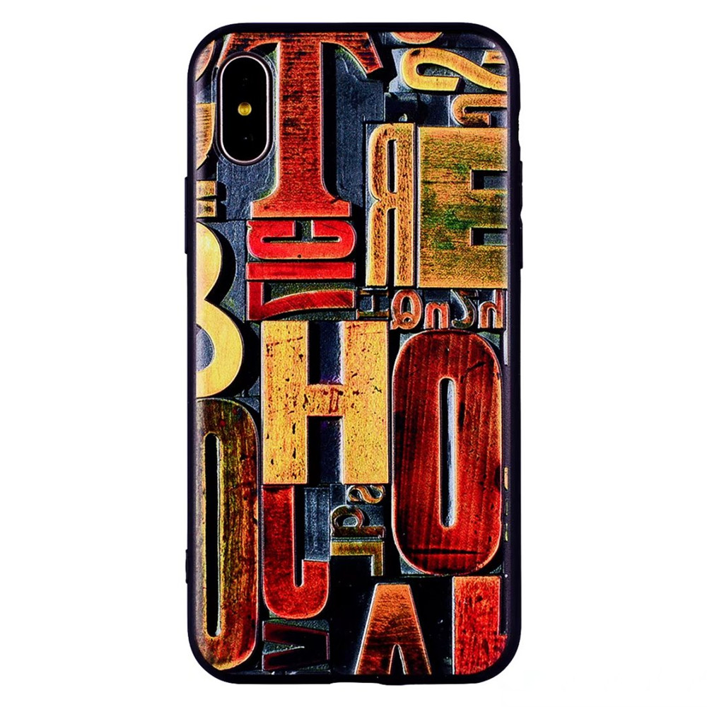 Cas de Retro Relief TPU pour iPhone X