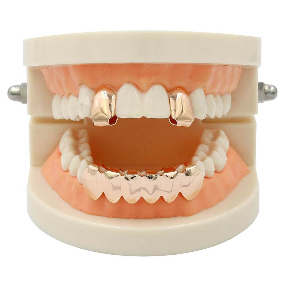 Dents Plaquées en Or 18K Hip Hop Grillz