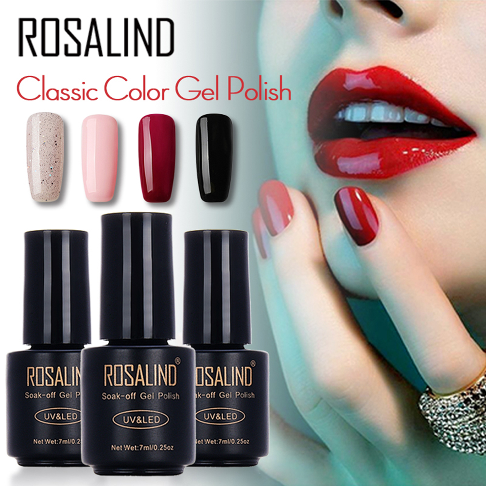 Colle pour photothérapie ROSALIND Colle pour ongles LED Gelishi Solid-Coloured Series 7 Ml