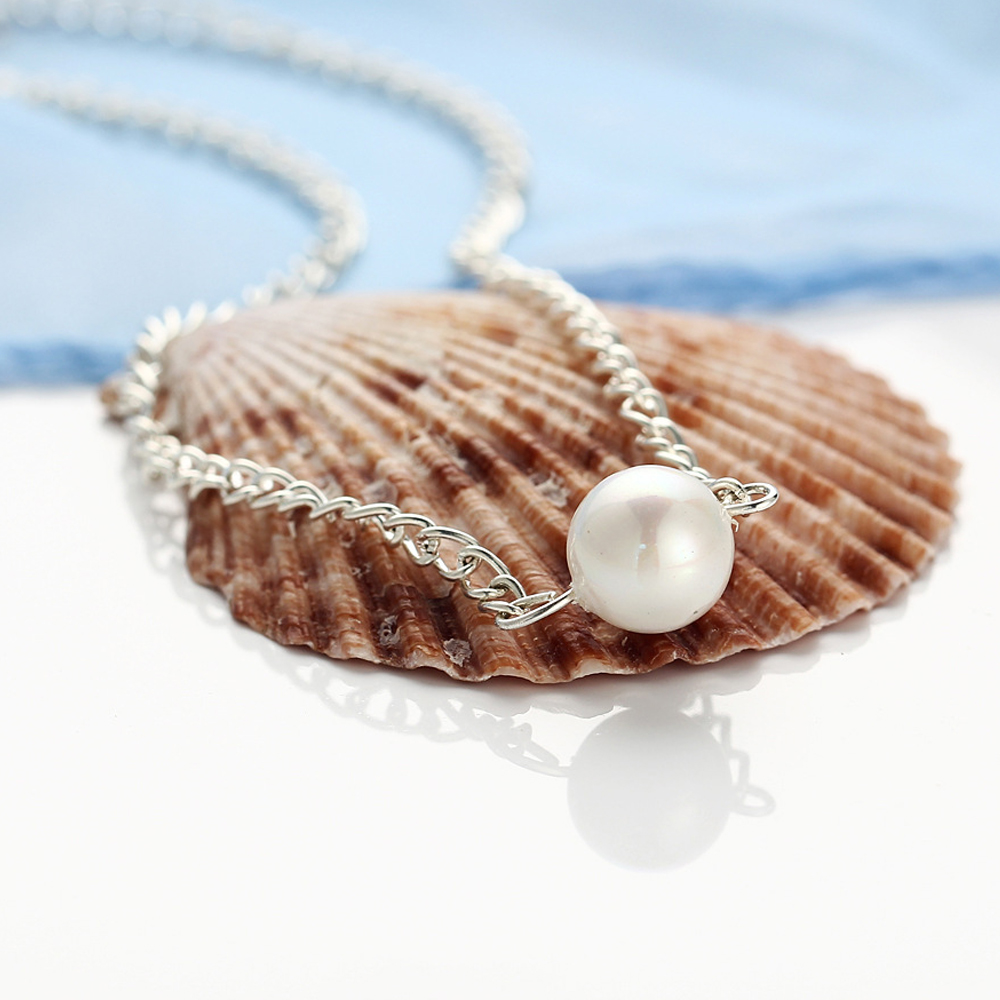 Collier simple perle simple