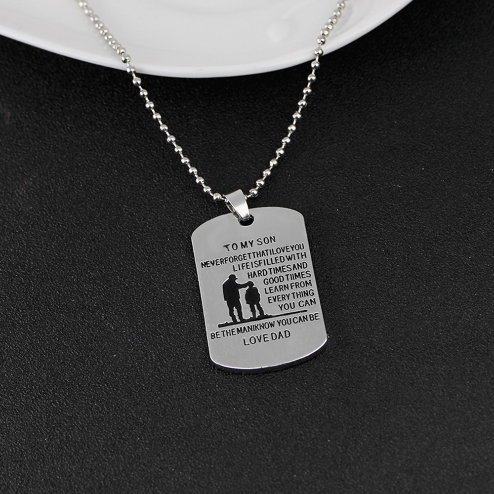 To Mon Fils Dog Tag Fashion Collier Pendentif