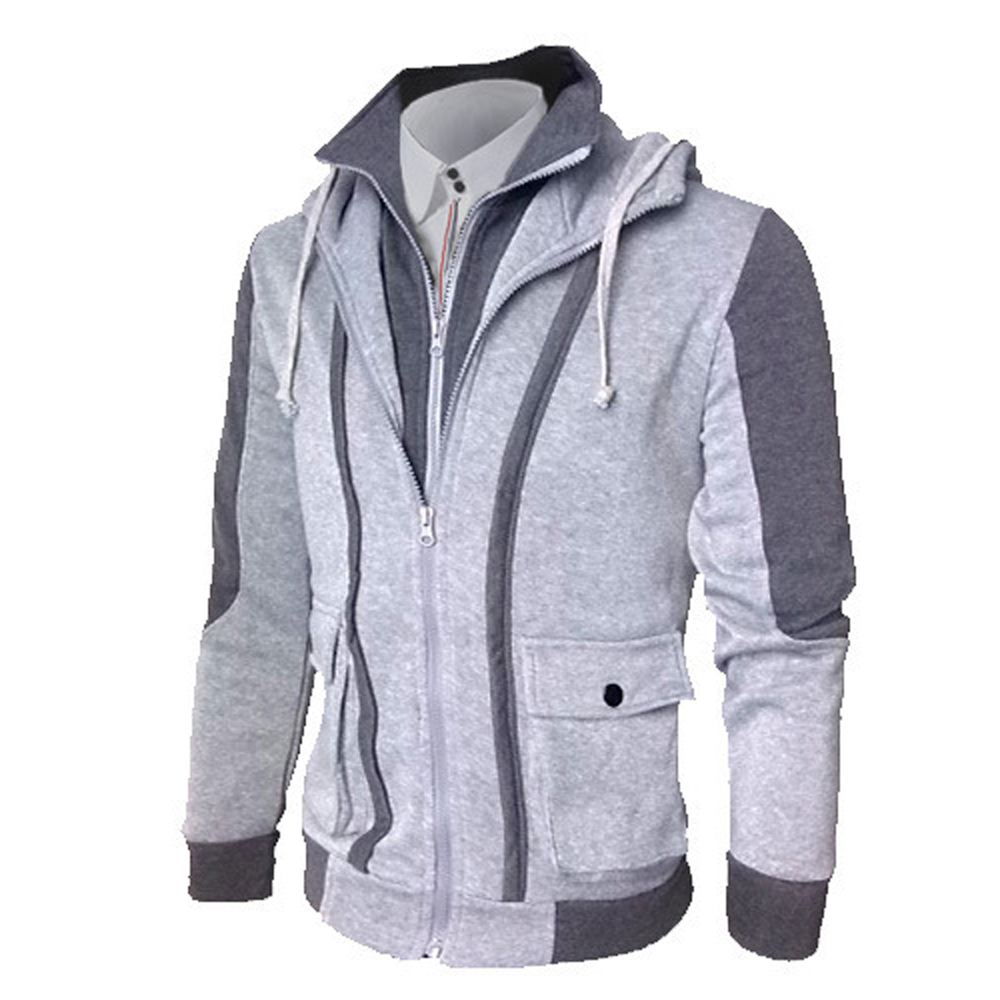 2018 Automne Hiver Nouveau Manteau Cardigan Hommes Joining Casual Hoodie