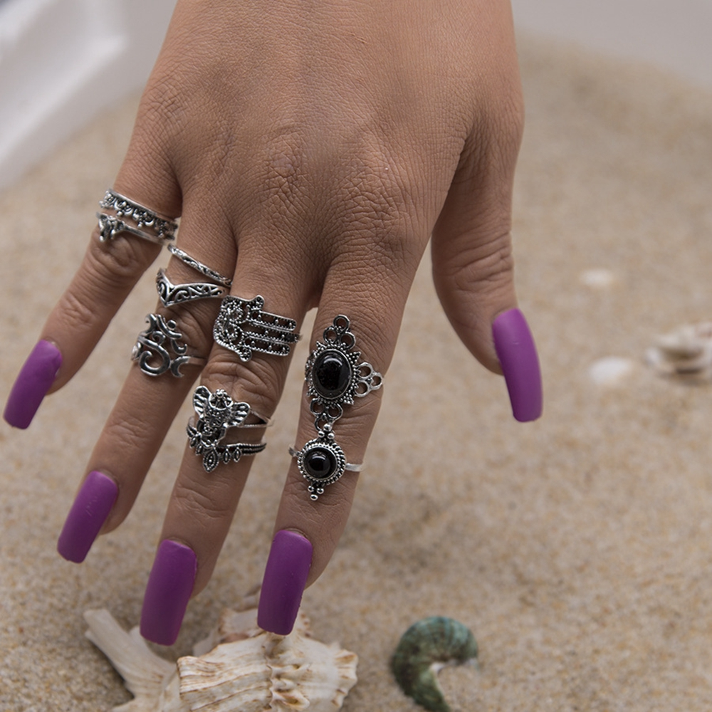 10 Pcs Elephant Palm Femmes Fashion Ring