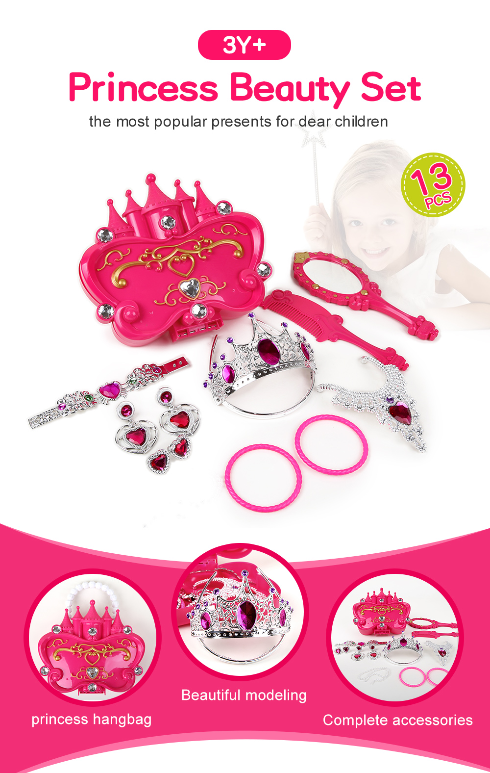 Girl Simulation Princess Dress Up Kit jeux de simulation de jouets