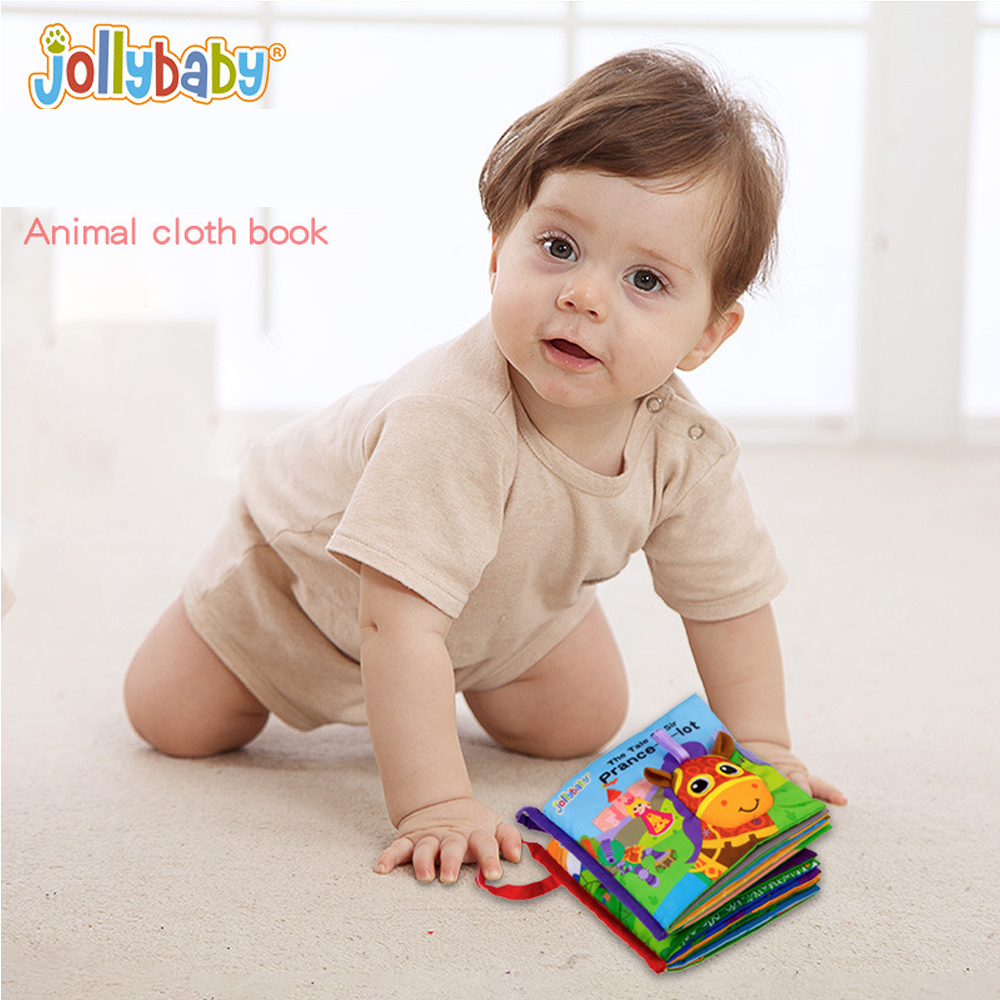 Jollybaby 3D Baby Touch Early Education livre de tissu animal