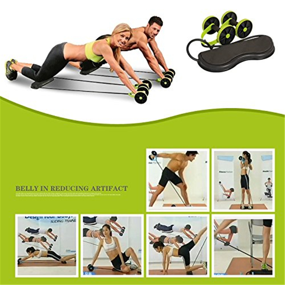 Belly Muscle Fitness roue ronde tension corde de tension