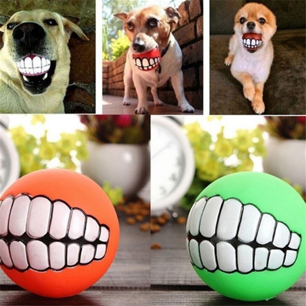 Animaux Chien Chiot Chat Boule Dents Style Jouet Silicone Chew Son Jouer Outil Chiot Chat Balle Jouet