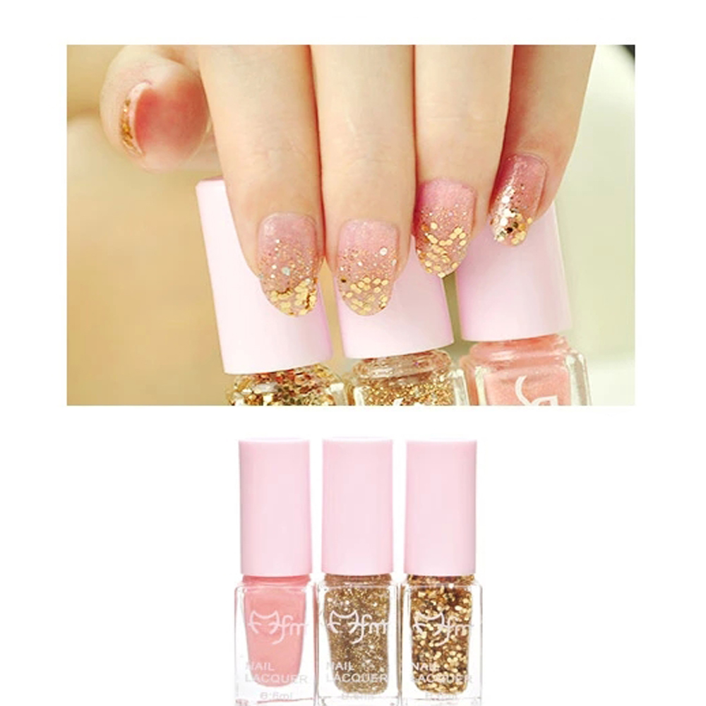 3 couleurs de vernis à ongles dégradé Set 3PCS