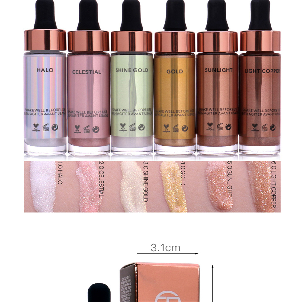 OTWOO Liquide Surligneur Maquillage Concealer Shimmer Face Glow Ultra-concentré Illuminating Bronzing
