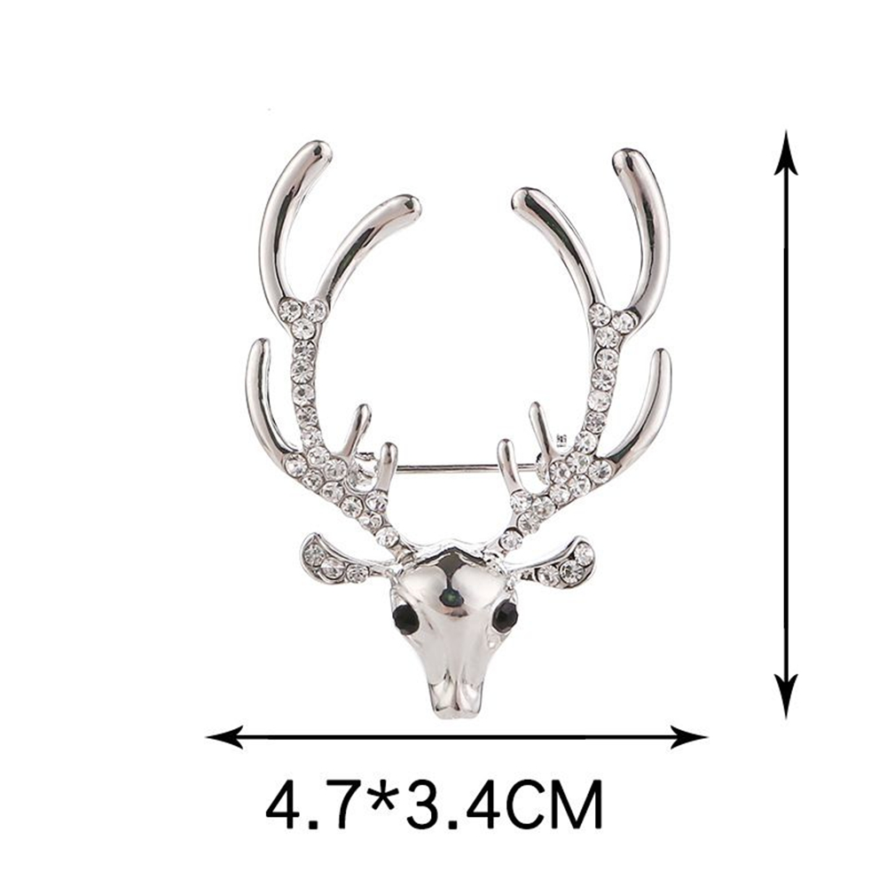 Les hommes des hommes Strass broche Elk Ornement Fine Jewelry Gifts