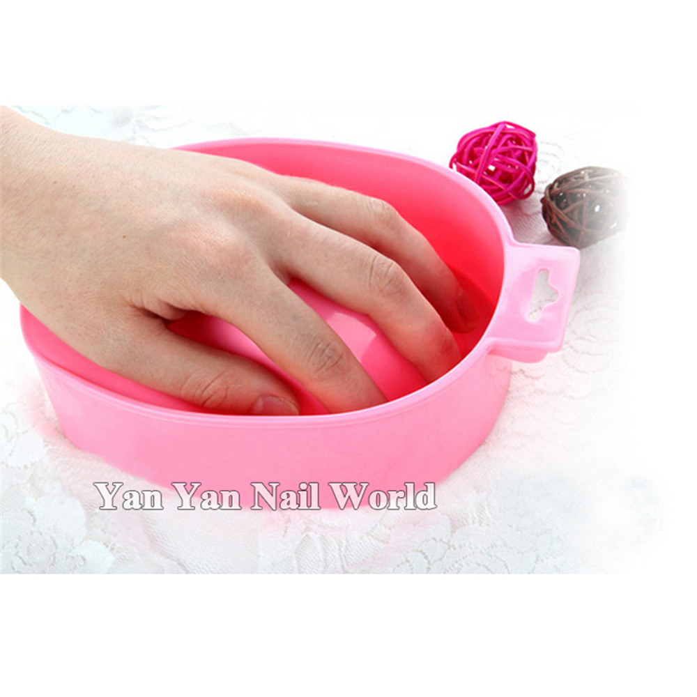 Nail Art Lavage à la main Remover Soak Bowl Salon Spa Bath Traitement Manucure Outils